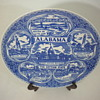 Vernon Kilns Unmarked Commemorative 9.5 Inch Alabama Plate?