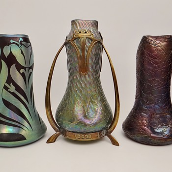Shapes by W. Kralik or shapes from metal mounts manufacturers? - Art Glass