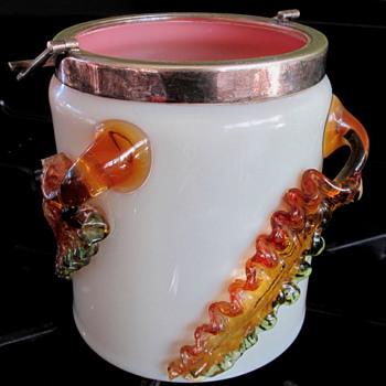 HARRACH  ART GLASS BISCUIT JAR - Art Glass