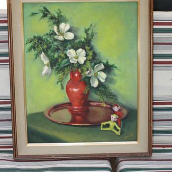 Oil painting  Solveig signature
