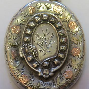 Victorian Silver Locket - Silver