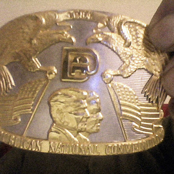 1984 republican national convention belt buckle