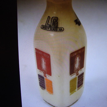 Liberty Glass Co. Econotainer Color Samples Milk Bottle........ - Bottles