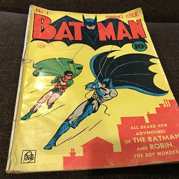Batman number one spring issue the holy grail 1940 - Comic Books