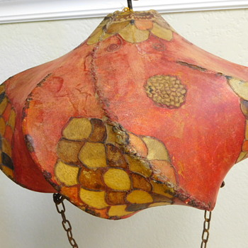 Asian Lampshade / Lantern Made From Skin - Asian
