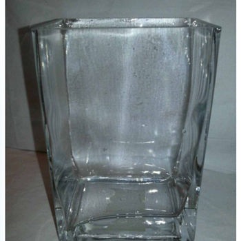 Glass Block Vase - Art Glass