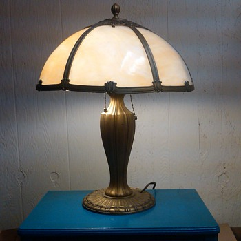My Slag Glass Lamp!