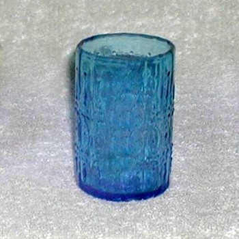 Wheaton Glass - Blue Juice Glass - Glassware