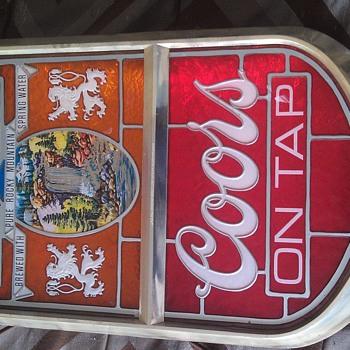 Vintage Coors Beer Light Up Sign - Signs