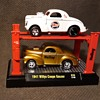 M2 Machines 1941 Willys Coupe Gasser Holley Carburetor 2 Pack With Rack 1/64 Scale Current