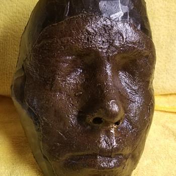 Metal Hand Made Mask - Folk Art