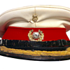 Royal Marine Officer's Forage cap.