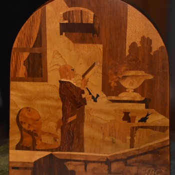 Buchsmid & Gretaux Marquetry Panel - Folk Art