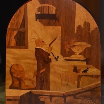 Buchsmid & Gretaux Marquetry Panel - Folk Art
