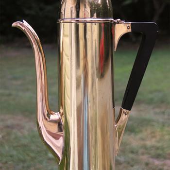 Brass Artilliery Shell Chocolate Pot