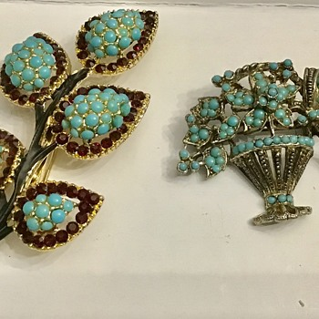 2 pretty brooches - Fine Jewelry