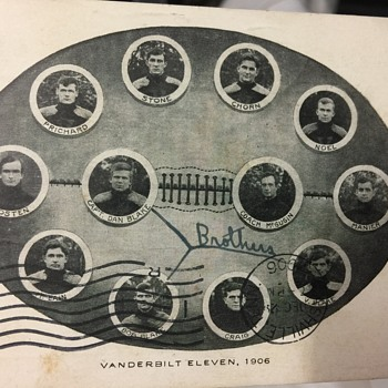 1906 Vanderbilt team post card - Postcards