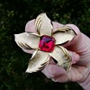 Crown Trifari Starfish or day lily brooch