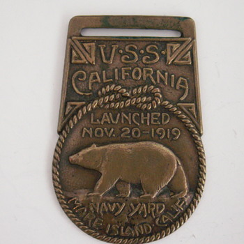U.S.S. California, Pocket Watch Fob - Pocket Watches