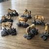 Carved ivory Mu Wang horses