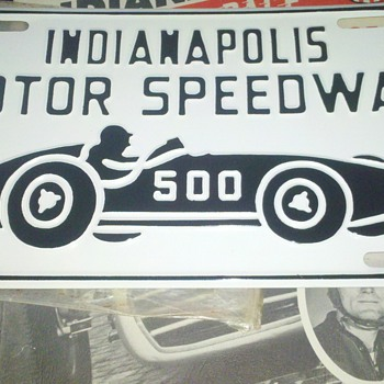 Indy 500 Souvenir License Plate help