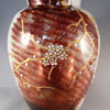 A HARRACH ENAMELED GLASS VASE