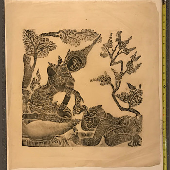 Any ideas about this block print? - Folk Art