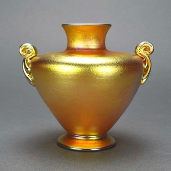 L.C.Tiffany Favrile Egyptian Vase c.1910. - Art Glass