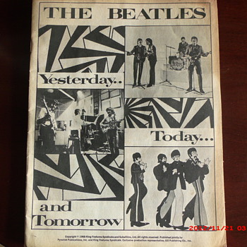 The Beatles Yesterday...Today...and Tomorrow book. - Music Memorabilia