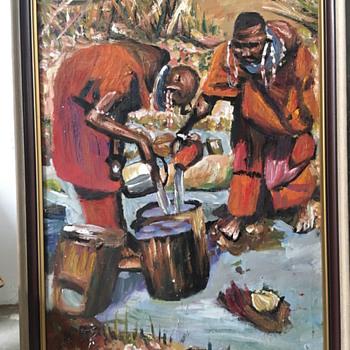 African oilpainting - Fine Art