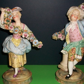 Continental Porcelain Figures - Figurines