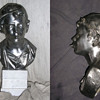 Spelter Bust of a Boy with a Whistle and Cap