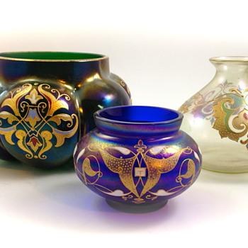 "Josephinenhuette ""Cypern"" Series Glass, designed by Max Rade, ca. 1899-1900 - Art Glass"