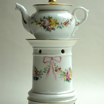 "antique french victorian porcelain ""tisaniere""  teapot. circa 1880. - China and Dinnerware"