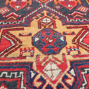 Handmade Hall  runner rug 3' x 9' - Rugs and Textiles