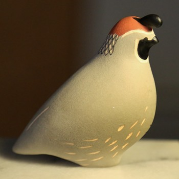 Ceramic Quail Figurine - Animals