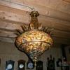 1001 bead glass hanging light fixture