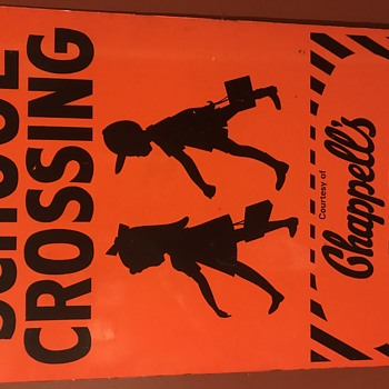 Rare Chappells Dairy School Crossing sign - Signs