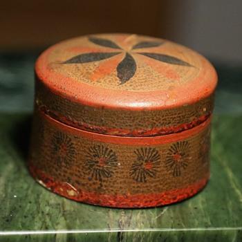 Painted Russian Treenware Box