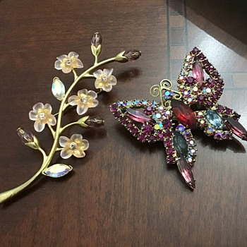 Butterfly and flower - Costume Jewelry