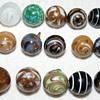 """Glass Waistcoat and Swirlback Ball Buttons - 1/2"""""""