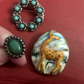 Brooches and ring - Costume Jewelry