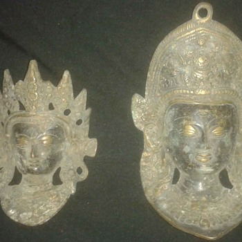 Vintage Old Brass Bronze ? Devi Tara and Ganesha Ganpati Wall Hanging, How old ? is it Rare ?? - Asian