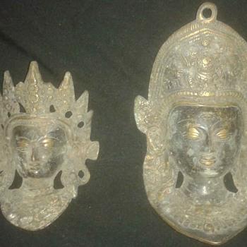 Vintage Old Brass Bronze ? Devi Tara and Ganesha Ganpati Wall Hanging, How old ? is it Rare ?? - Asian