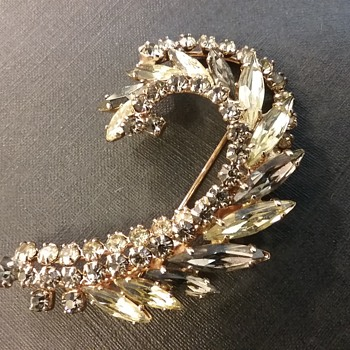 Sherman crescent brooch  - Costume Jewelry