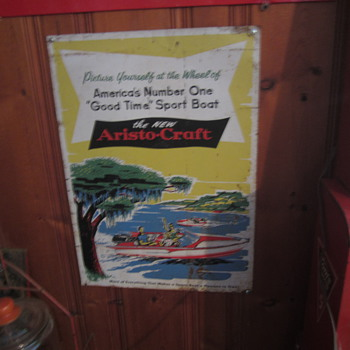 Aristcraft boat sign metal