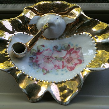 Old German Pipe Ash Tray