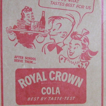Old Dr. Pepper & Royal Crown Cola ads inside yearbook dust covers - Advertising