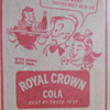 Old Dr. Pepper & Royal Crown Cola ads inside yearbook dust covers
