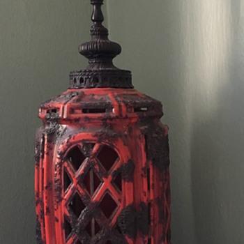 Cast Iron & Ceramic Lamp